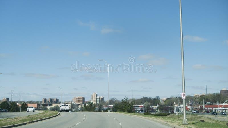 Widok placu okręg Kansas City od południowych wschodów obrazy stock