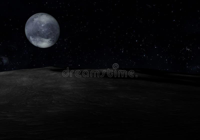 Widok Pluton od asteroidy ilustracja 3 d royalty ilustracja