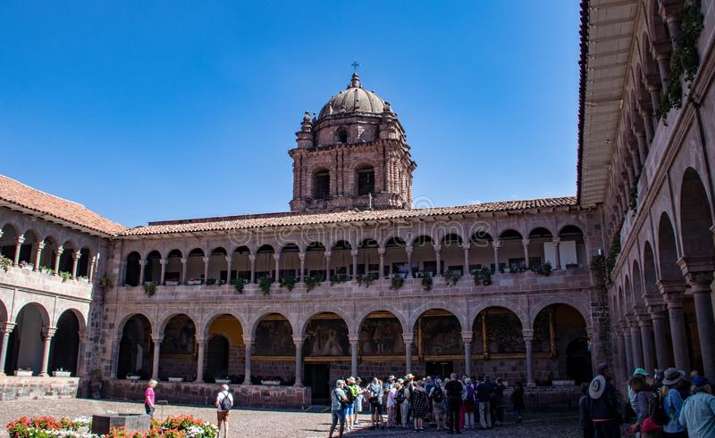 Widok podw?rze klasztor Santo Domingo obraz stock