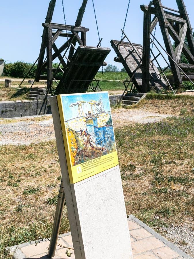 Widok Pont Van Gogh w Arles, Francja obraz stock