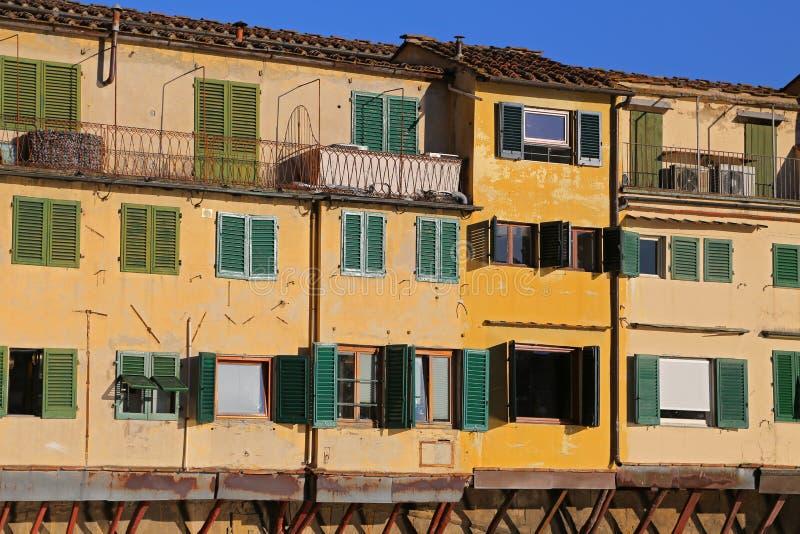 Widok Ponte Vecchio we Florencji Firenze, Toskania zdjęcia royalty free