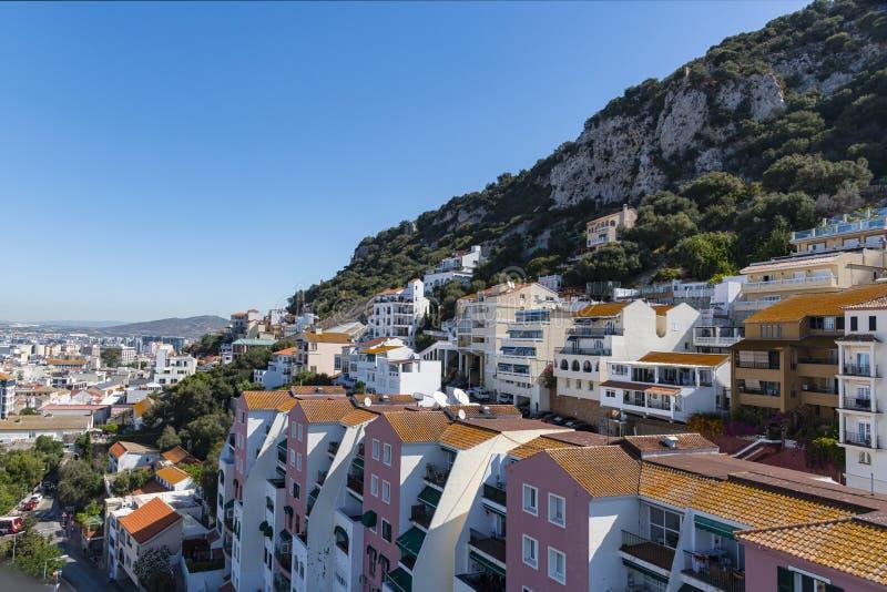 Widok poranny na Gibraltar z kablówki zdjęcie royalty free