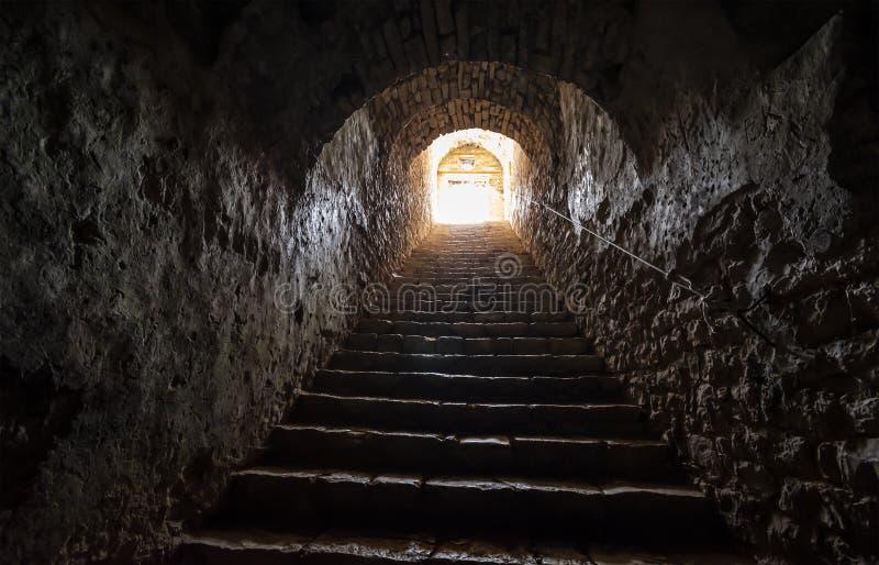 Widok Porto Palermo kasztel obraz royalty free