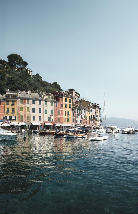 Widok Portofino schronienie w Włochy zdjęcie stock