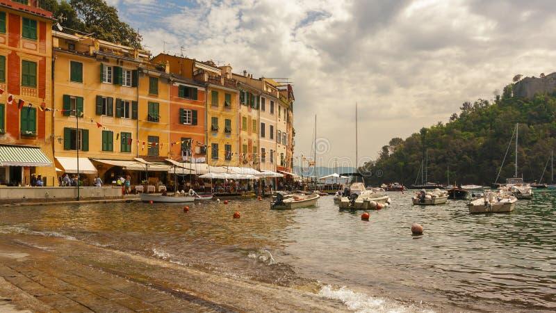 Widok Portofino w Włochy obraz royalty free