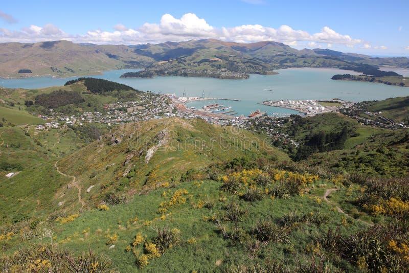 Widok portowa wioska obrazy royalty free