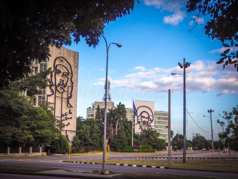 widok portrety na placu De Los angeles Revolucion w Havana obraz royalty free