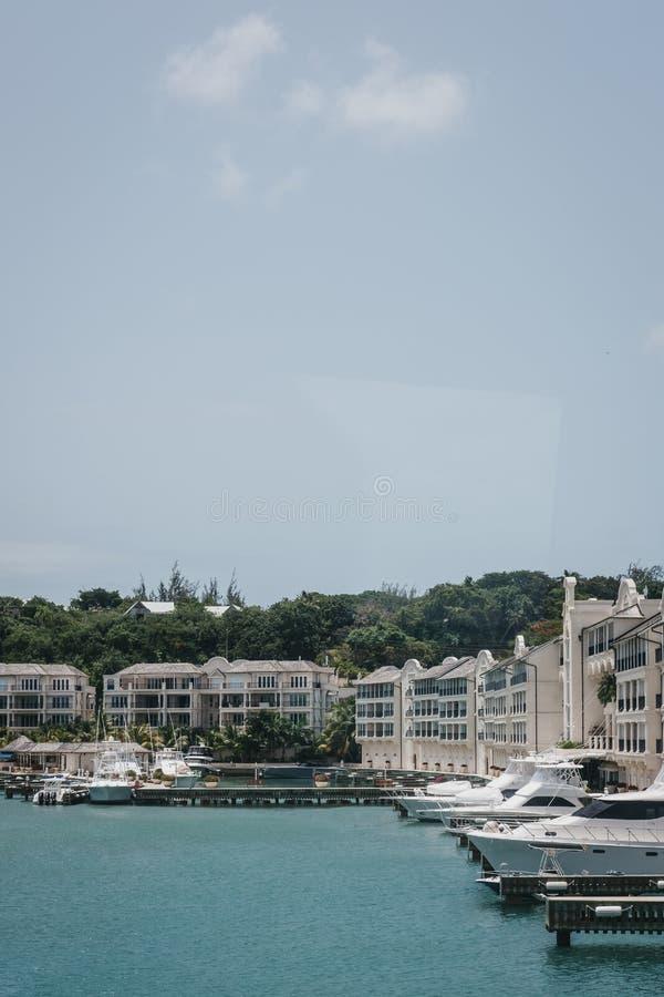 Widok portu St Charles, Barbados, na jasnym pogodnym letnim dniu zdjęcie royalty free