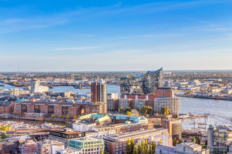 widok powietrznej Hamburg obrazy royalty free