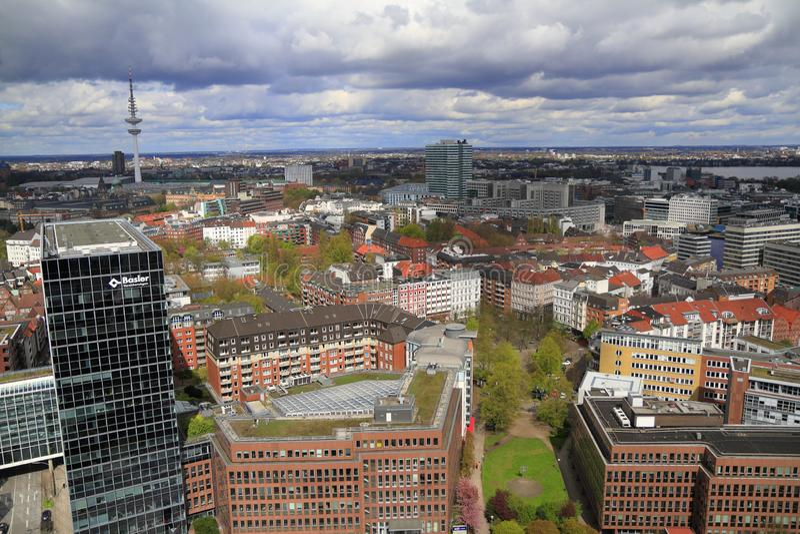 widok powietrznej Hamburg obraz stock