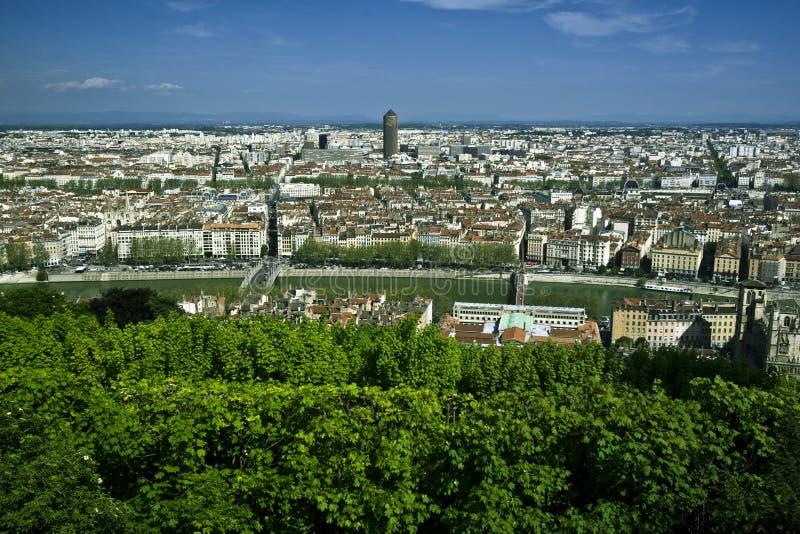 widok powietrznej Lyon obraz royalty free