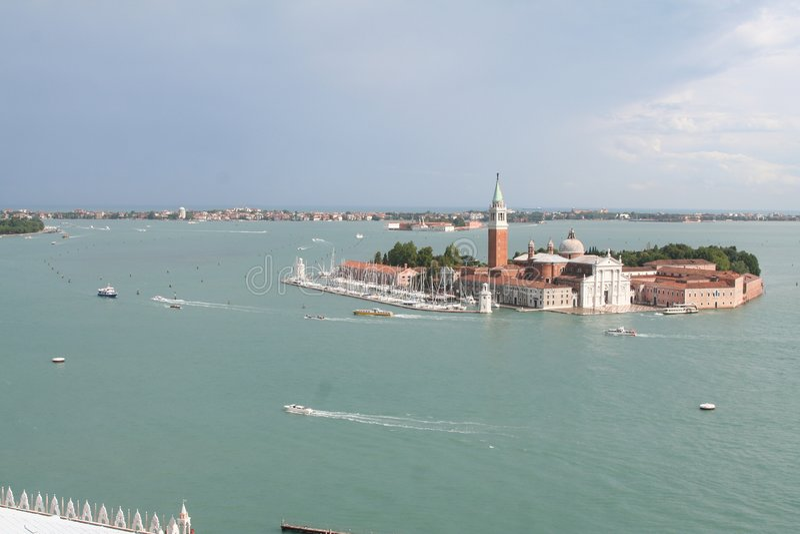 widok powietrznej Wenecji zdjęcia royalty free