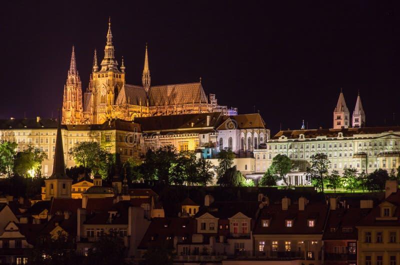 Widok Praga kasztel (Prazsky hrad) fotografia stock