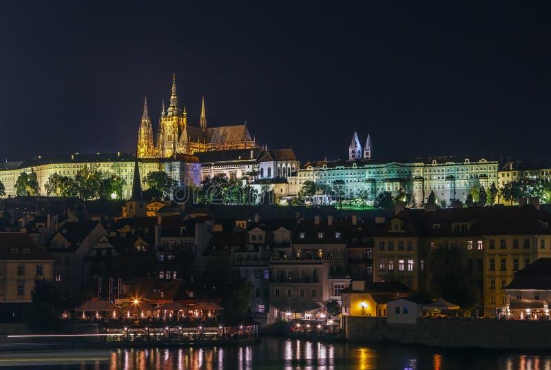 Widok Praga kasztel, republika czech zdjęcia stock