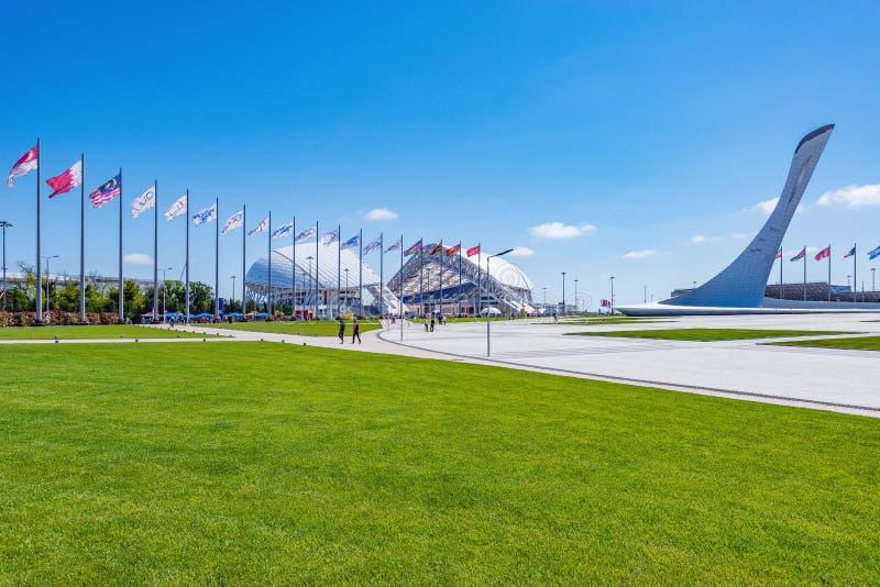 Widok przedmioty Olimpic park obrazy stock