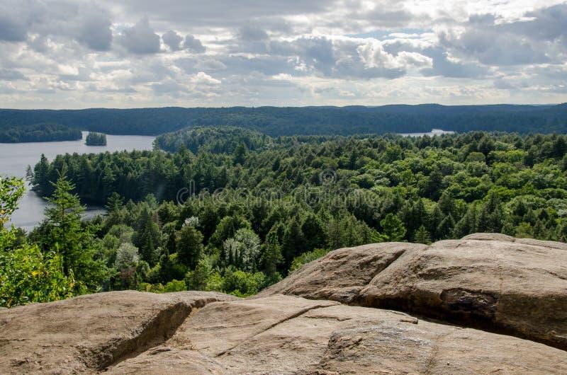 Widok przegapia Ontario krajobraz zdjęcia royalty free
