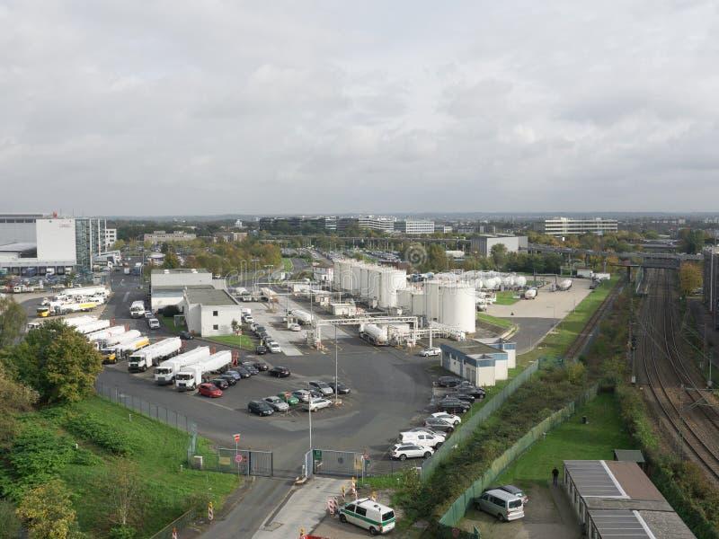 Widok przemysłowy krajobraz zdjęcie stock