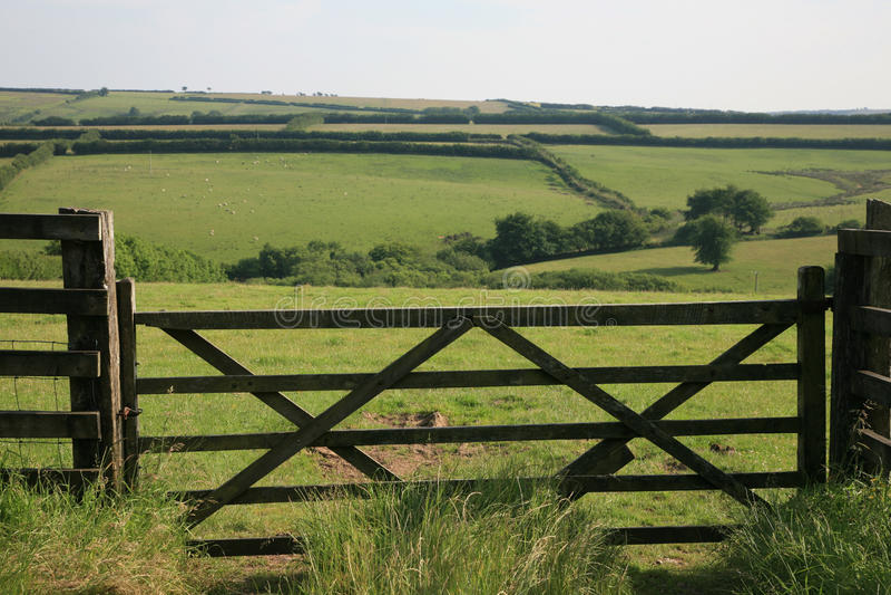 Widok przez Exmoor zdjęcia royalty free
