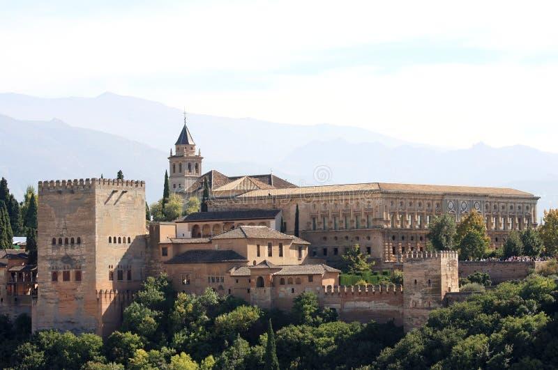 Widok przy Alhambra w Granada, Hiszpania zdjęcie royalty free