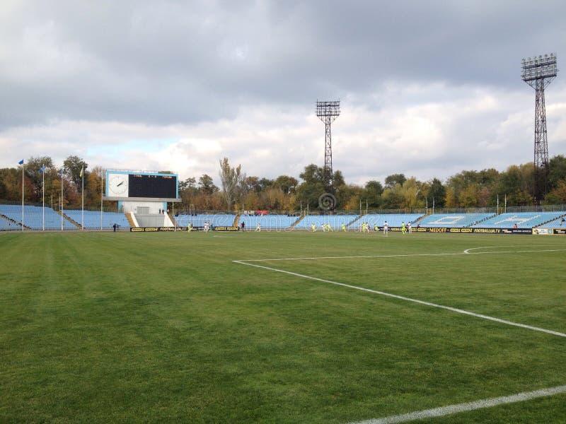 Widok przy boisko do piłki nożnej obraz royalty free