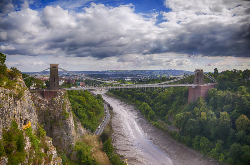 Widok przy Bristol mostem zdjęcia royalty free