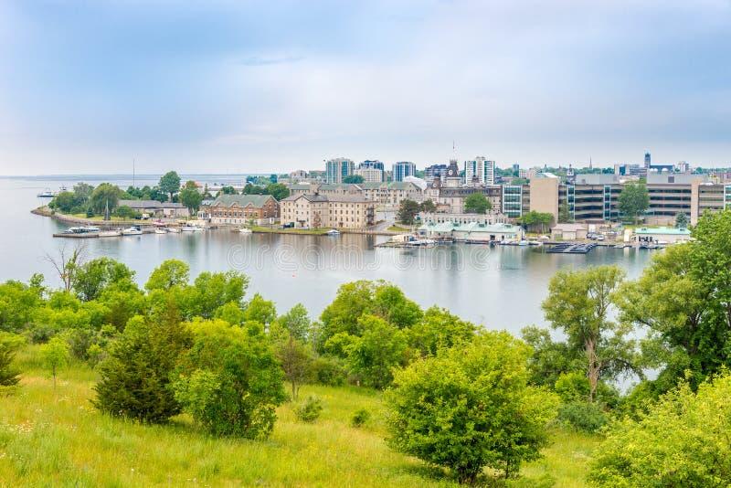 Widok przy Kingston od fortu Henry wzgórza - Kanada zdjęcie royalty free