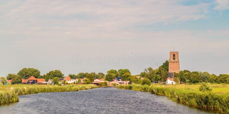 Widok przy małą Holenderską wioską Ransdorp fotografia royalty free