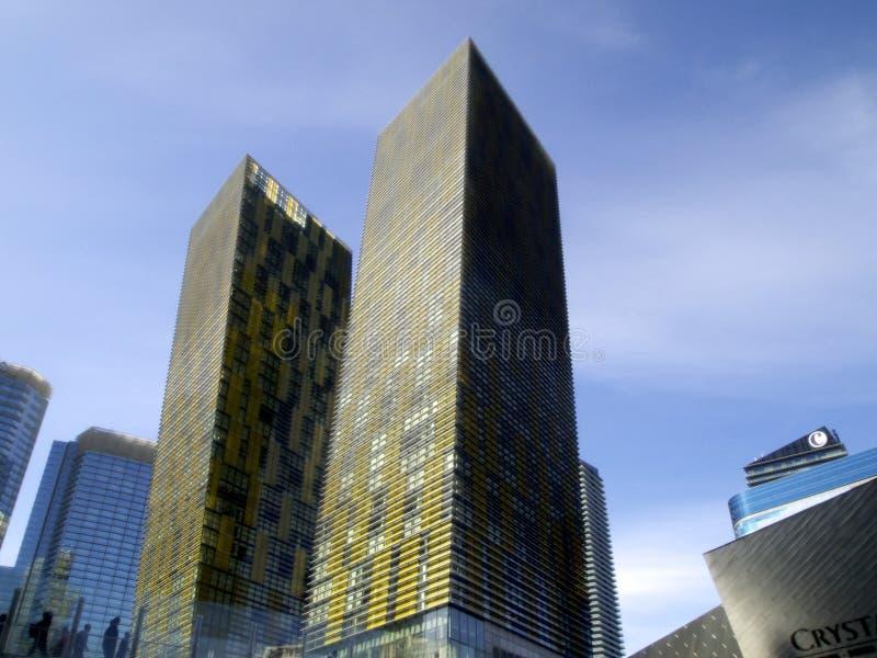 Widok przy mandarynu Orientalnym kasynem w Las Vegas i hotelem fotografia stock