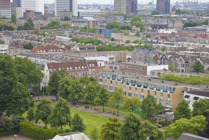 Widok przy miastem Rotterdam holandie fotografia royalty free