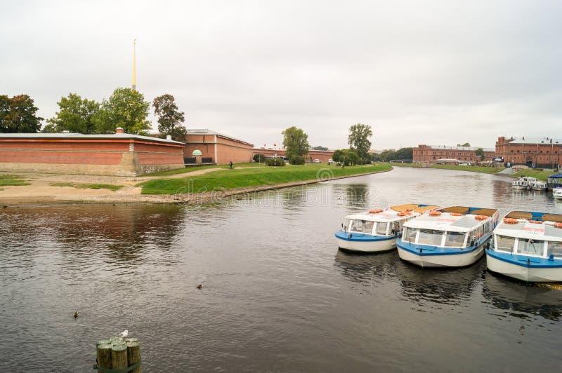 Widok przy mostem obraz royalty free
