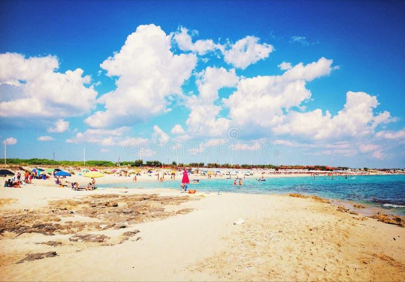 Widok przy plażą obrazy royalty free