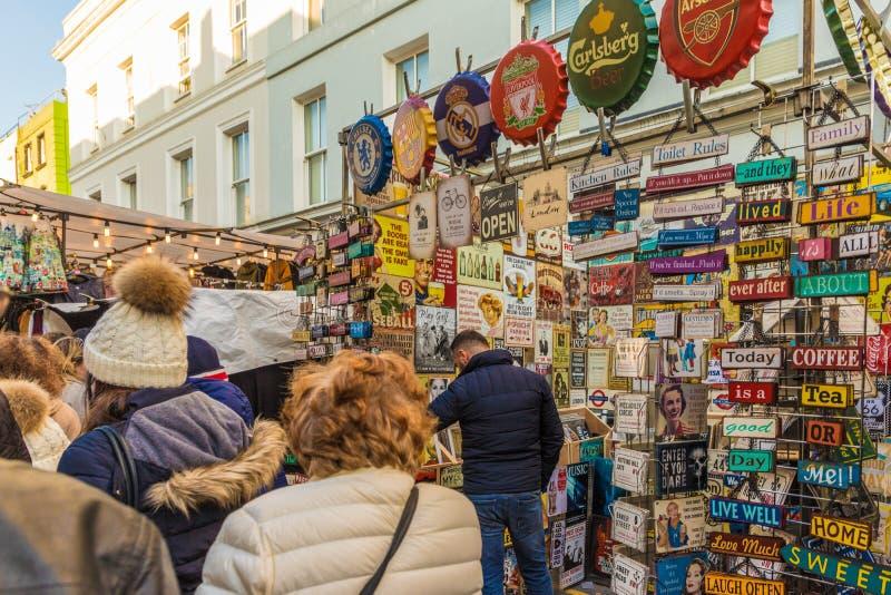 Widok przy Portobello drogi rynkiem zdjęcie stock
