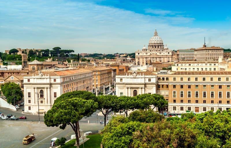 Widok przy Watykan zdjęcie stock