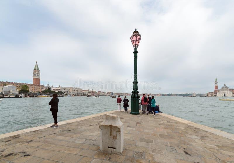 Widok przy Wenecja laguną, dnia foto zdjęcie stock
