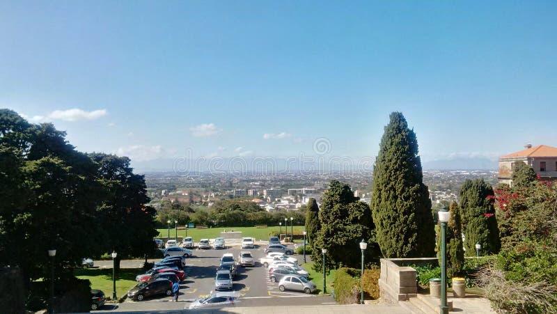 Widok przylądka miasteczko od uniwersyteta przylądka miasteczko fotografia royalty free