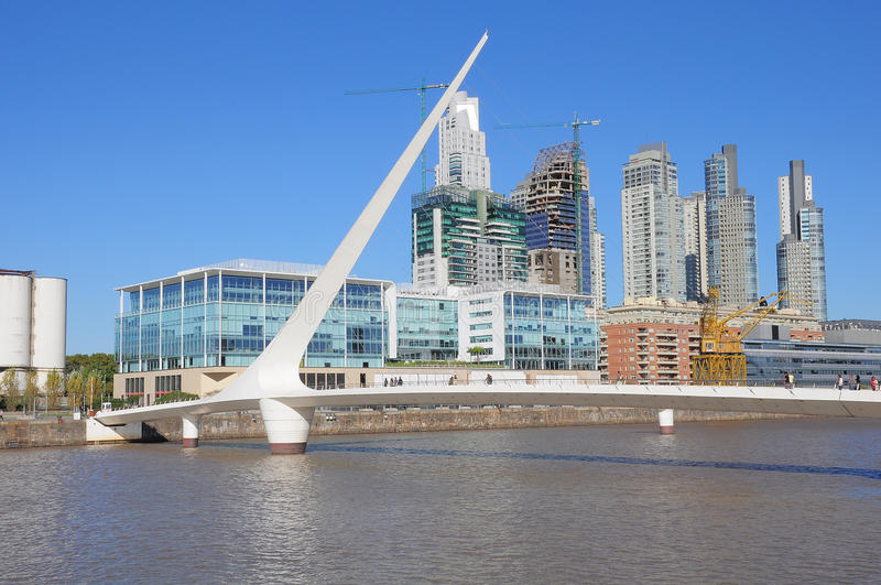 Widok Puerto Madero, Buenos Aires obrazy stock