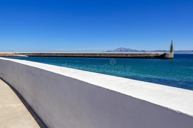 Widok Punta Del Santo w Tarifa, Andalusia Hiszpania fotografia royalty free