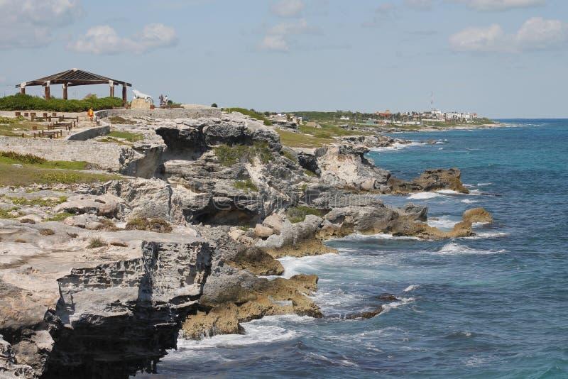 Widok Punta Norte w Isla Mujeres obrazy stock