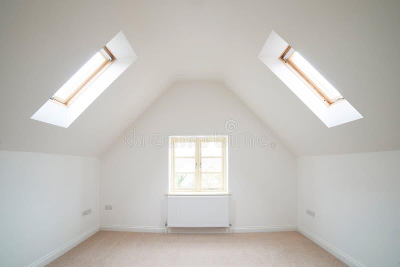 Widok Pusty pokój W Nowożytnym domu zdjęcie stock