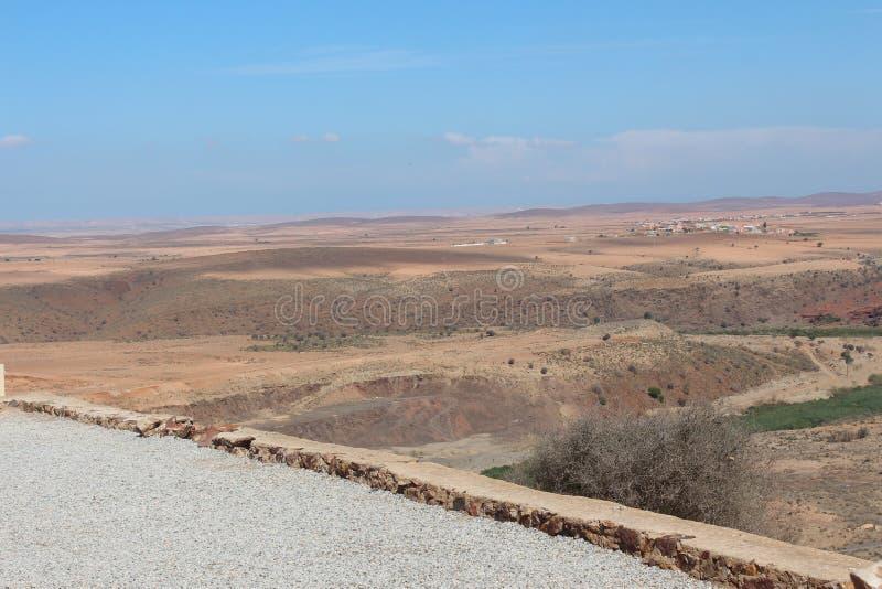 Widok pustynia w Maroko zdjęcie royalty free