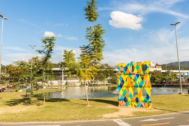 Widok Ramiro park Blumenau, Santa Catarina obraz royalty free