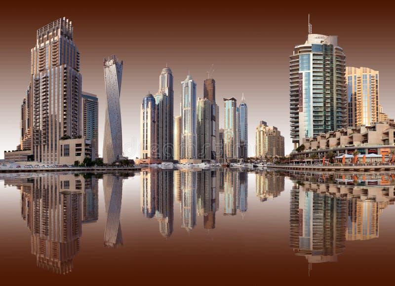 Widok region Dubaj, Dubaj - Mar fotografia stock
