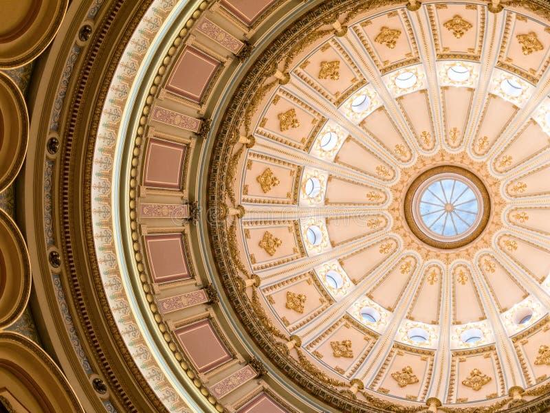 Widok rotunda w Kalifornia stanu Capitol zdjęcia stock