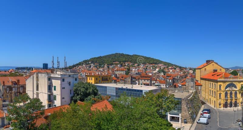 Widok rozłam, Chorwacja zdjęcia royalty free