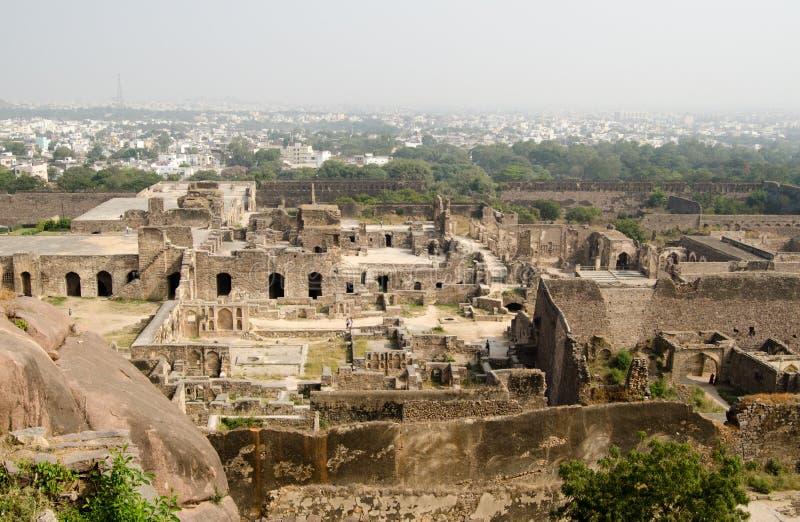 Ruiny Golcanda, India Zdjęcia Royalty Free