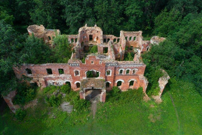Widok ruiny stary dom barons Wrangel w Torosovo obrazy royalty free