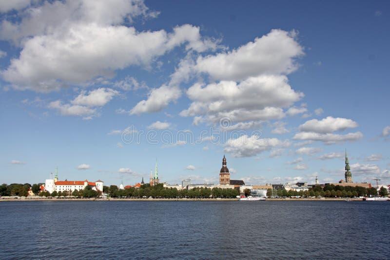 Widok Ryski na letnim dniu zdjęcia stock