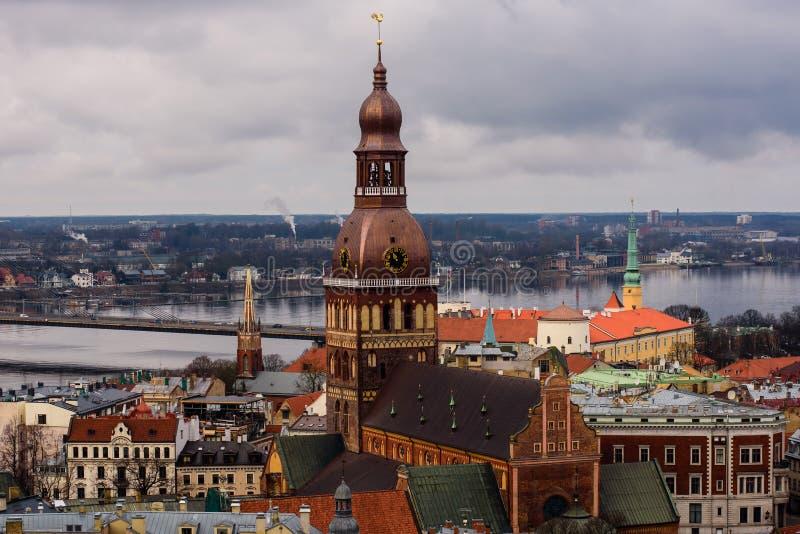 Widok Ryski stary miasteczko zdjęcia royalty free