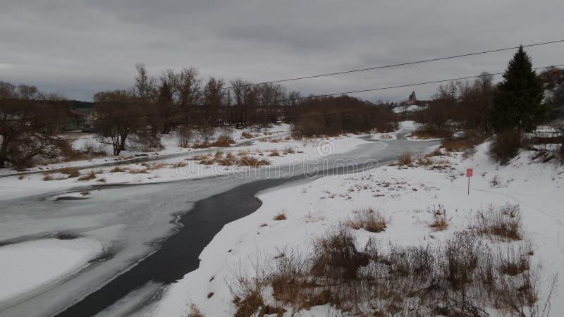 Widok rzeka w Borovsk zdjęcie royalty free