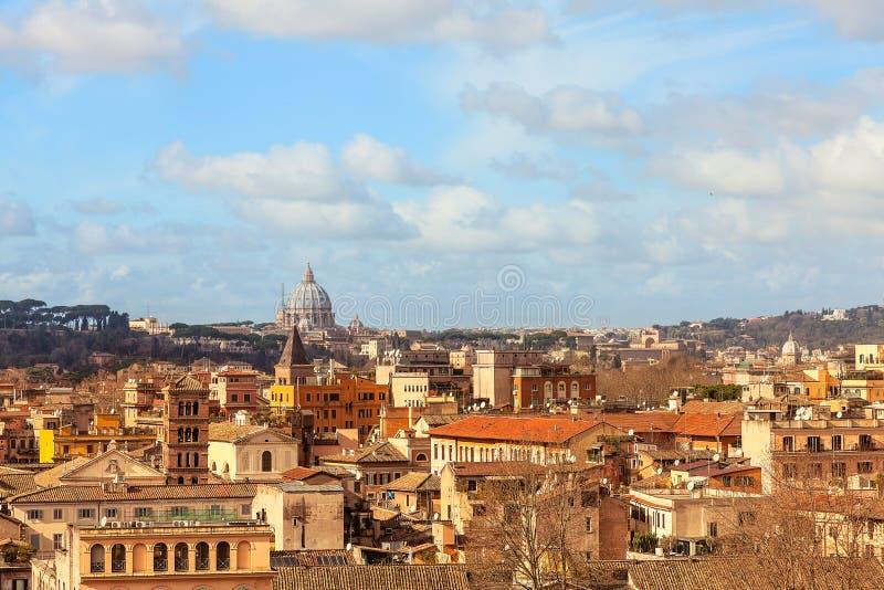 Widok Rzym i Vaticano od Aventine wzgórza obrazy stock